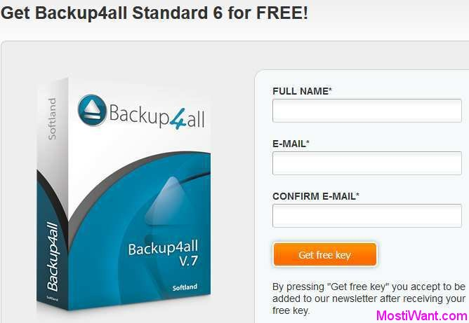 Backup4all Standard 6 for FREE