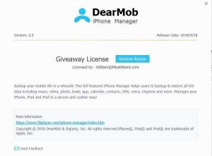 DearMob iPhone Manager Free Full Version