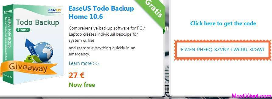 EaseUS Todo Backup Home 10.6 For Free