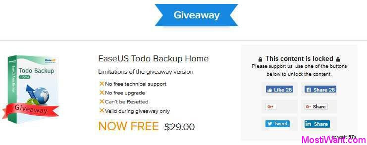 EaseUS Todo Backup Home 10.6 Free Giveaway