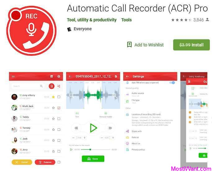 Automatic Call Recorder (ACR) Pro For Free