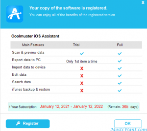 Coolmuster IOS Assistant 1 Year License