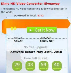 Dimo HD Video Converter Free Giveaway