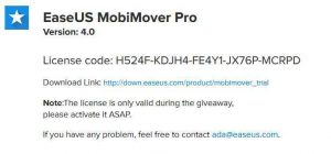 EaseUS MobiMover Pro 4.0 Free Giveaway
