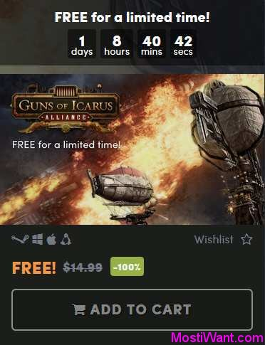 Guns of Icarus Alliance Free Steam Key
