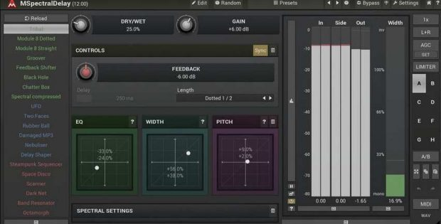 MSpectralDelay Creative Delay Plugin