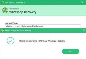Tenorshare WhatsApp Recovery Full Version