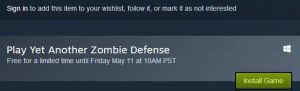 Yet Another Zombie Defense PC Game for Free