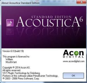Acoustica Standard 6 Free Full Version