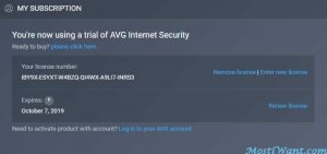 AVG Internet Security 2019 Free Subscription