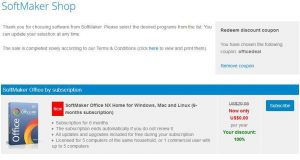 SoftMaker Office NX Home Free Subscription