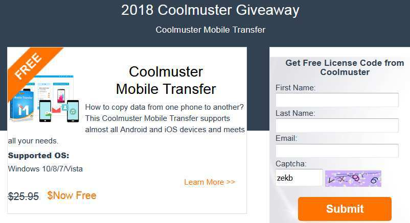 Coolmuster Mobile Transfer Giveaway