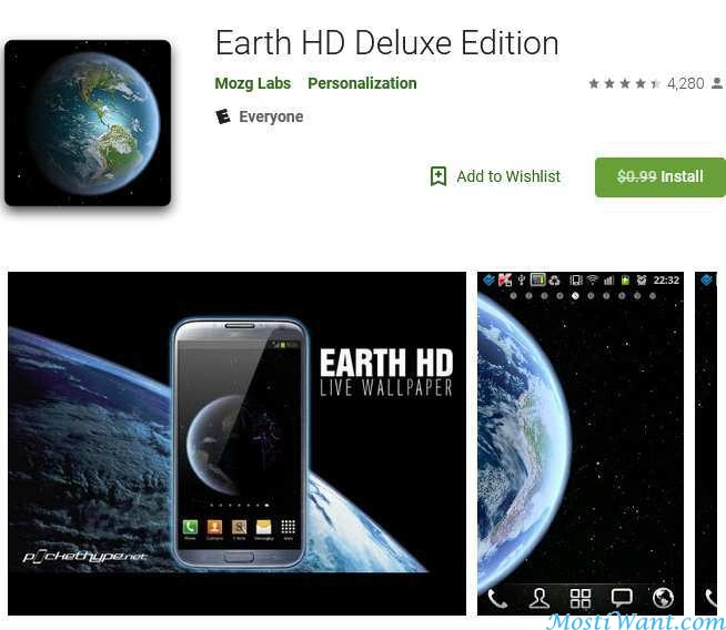 Earth HD Deluxe Edition Live Wallpaper