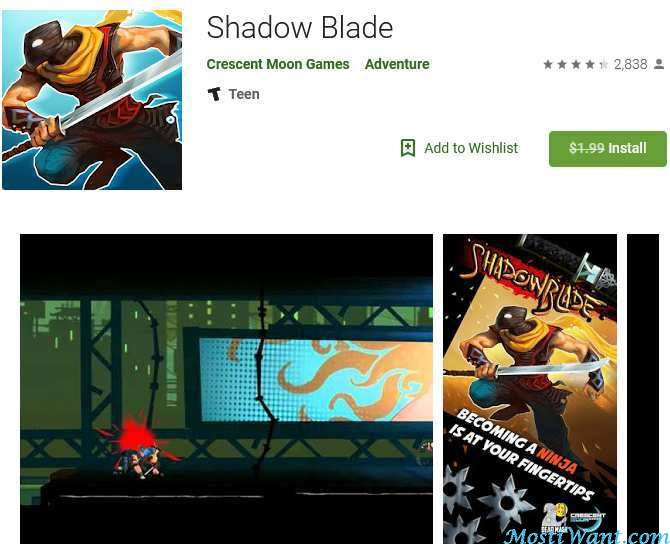 Shadow Blade Free Android Game