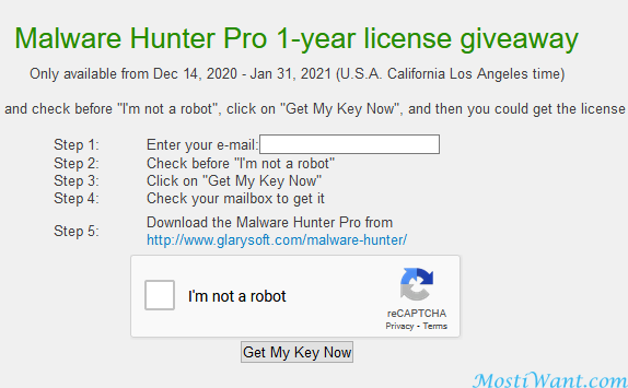 Malware Hunter Pro 1-year license giveaway