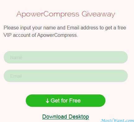 ApowerCompress Giveaway